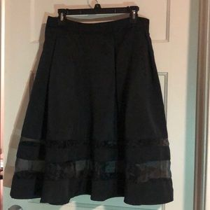 Black Skirt with Panels